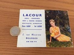 Calendrier 1970 «LACOUR BOURGES (18) / Femme Sexy - Cliché A.M.BERGER» - Calendriers