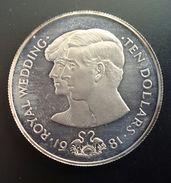 "BAHAMAS 10 DOLLARS 1981 SILVER PROOF ""Wedding Of Prince Charles And Lady Diana"" (free Shipping Via Registered Air Mail) - Bahamas"