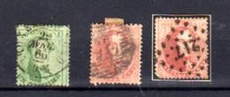 1863    Léopold 1er, 13B – 14A – 16B Ob, Cote 62 €, - 1863-1864 Medallions (13/16)