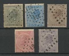 1865-66    Léopold 1er, 17 / 21 Ø, Cote 219 €, - 1865-1866 Profile Left
