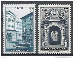 """Monaco YT 369 à 370 """" Vues De La Principauté """" 1951 Neuf* - Unused Stamps"""