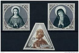 "Monaco YT 437 à 439 "" Année Mariale "" 1955 Neuf* - Unused Stamps"