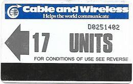 @+ Ile De Diego Garcia - Cable & Wireless 17 Unites (1995) - Ref : IO-C&W-AUT-0001 - Diego-Garcia