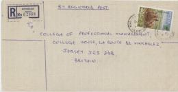 Kenya 1997 Rhinoceros On Registered Letter - Rhinozerosse