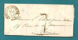 Deux Sèvres - Chatillon Sur Sèvre Pour Paris. CàD Type 13 + Taxe Tampon 7. LAC Ecrite à St Aubin. 1839 - Marcophilie (Lettres)