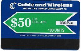 @+ Maldives - Cable & Wireless $50 (2000) - Ref : MV-C&W-AUT-0002 - Maldives
