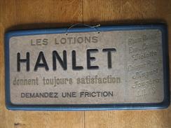 Carton Publicitaire Original En Relief (années 20) Parfumerie A.J. HANLET à ANDERLECHT - Lotions Muguet-fougère-lilas... - Parfum & Cosmetica