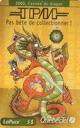 QuébecTel, Dragon, TPM, 2000ex,  00 01 Q10127, Mint - Canada