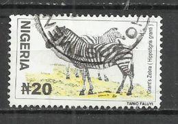 NIGERIA 2001 - ZEBRA - USED OBLITERE GESTEMPELT USADO - Nigeria (1961-...)
