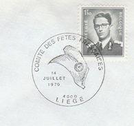 1970 Belgium FRENCH BASTILLE DAY FETE EVENT COVER Illus PHRYGIAN CAP Hat Stamps French Revolution France - French Revolution