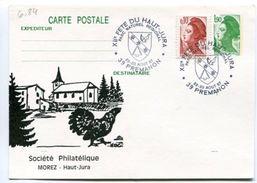 6_84 Entier Repiqué 12ème Fête Du Haut Jura Prémanon - Lettres & Documents