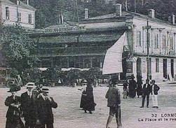 Cpa 33 Gironde  LORMONT Très Animée LA PLACE Et Le RESTAURANT DE LORMONT 1917 GRAND CAFE   Recto Verso Prix Fixe - Autres Communes