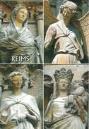 AK Frankreich 2017 Reims Kathedrale Notre Dame Figuren Heilige - Reims