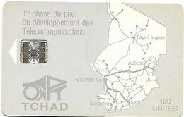 @+ Tchad - ONPT 120U - Grey Map Of Tchad SC7 - Tsjaad