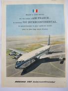 AIR FRANCE Boeing 707 Intecontinental - Old French Page Original Publicity Verbung Reclame - Magazine Paris Match 1959 - Pubblicitari