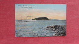 The J. T. Morse Leaving Bar Harbor Fpr Rockland  Maine    -ref 2728 - Piroscafi