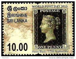 Sri Lanka - 2015 - World Post Day - 175th Anniversary Of Penny Black - Mint Stamp - Sri Lanka (Ceylon) (1948-...)