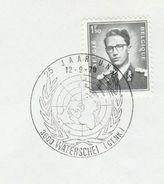 1970 BELGIUM  UN 25th ANNIV, EVENT COVER Waterschei, United Nations Stamps - UNO