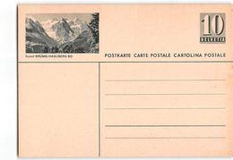 15550 HELVETIA POSTCARD BRUNIG-HASLIBERG BO - Interi Postali