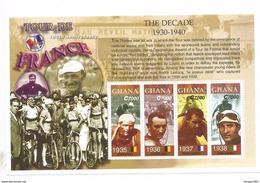 2003 Ghana Tour De France Cycling Complete Set Of 2 Sheets  MNH - Ghana (1957-...)