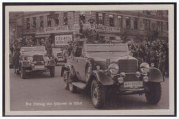 """Dt- Reich (004951) Propagandakarte """"Der Einzug Des Führers In Wien"""" Blanco Gestempelt Mit SST Ein Volk... Wien Den 10.4. - Allemagne"""