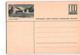 15558 HELVETIA POSTCARD  CRANS-SUR-SIERRE - Interi Postali