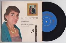 45 T - Maria Callas Caro Nome - Guiseppe Di Stefano La Donna E Mobile - Rigoletto - Colombia - Opera