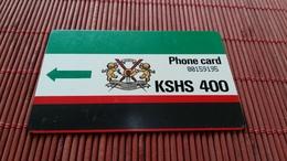 Phonecard Kenia 400 KSHS  Used Rare ! - Kenya