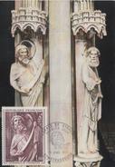 Carte-Maximum FRANCE  N°Yvert 1654 / Pilier Des Anges, Cathédrale De Strasbourg - 1970-79