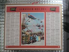 CALENDRIER ALMANACH DES P.T.T 1962 FETE FORAINE MANEGE - Calendriers