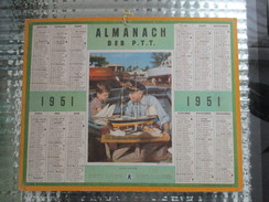 CALENDRIER ALMANACH DES P.T.T 1951 MARINE FUTUR CAPITAINE  BATEAU MAQUETTE - Grand Format : 1941-60