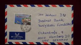 Gambia - 1990 - Mi:GM 1045 On Airmail-envelope - Look Scan - Gambie (1965-...)