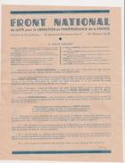 1944 : TRACT FRONT NATIONAL DE LUTTE POUR LA LIBERATION . COLONEL ROL - M CACHIN .  F.F.I.  Etc .. - Historische Dokumente