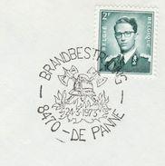 1973 De Panne FIRMEN FIREFIGHTING EVENT COVER Belgium Stamps - Firemen
