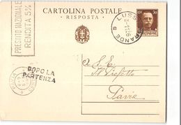 15580  CARTOLINA POSTALE 30CENT LUSSINGRANDE X PAVIA - Interi Postali