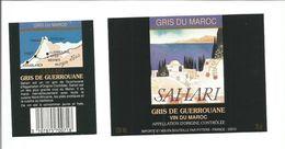 """Etiquette De VIN DU MAROC """" SAHARI - Gris De Guerrouane """" - Roséwijn"""