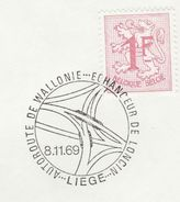 1969 The AUTOROUTE DE WALLONIE ROAD EVENT COVER Belgium  Stamps - Cars