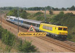 BB 22380 Et Train De Contrôle Des Infrastructures, à St-Mards-de-Fresne (27) - - Trains