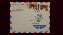 Ivory Coast - 1959 - Mi:CI 205, Sn:CI 168, Yt:CI 178 (2x) On Airmail-envelope - Look Scan - Côte D'Ivoire (1960-...)