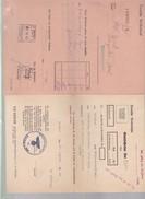 Deux    Documents   Banque :  1942 Et   1944  Reichsbank ( Occupation ) Alsace - Banque & Assurance