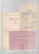 Trois     Documents   Banque :  1942 Et   1944  Reichsbank ( Occupation ) Alsace - Banque & Assurance