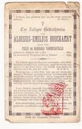 DP Aloisius Em. Bouckaert / VandeCapelle 15j. ° Egem Pittem 1879 † Wingene 1895 - Devotion Images