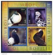 ROMANIA 2005 Pigeons Block MNH / **.  Michel Block 366 - Blocks & Sheetlets