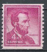 United States 1958. Scott #1058 (U) Abraham Lincoln - Rollen