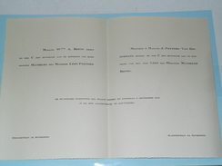 Mathilde BOTTU & Léon PEETERS - 6 Sept. 1930 - St. Amanduskerk ANTWERPEN ( Zie Foto's Voor Detail )! - Mariage