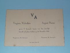 Virginia WALSCHOTS & August DAEMS - 22 Dec. 1945 - ANTWERPEN ( Zie Foto's Voor Detail )! - Huwelijksaankondigingen