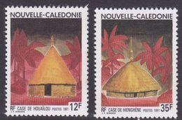 New Caledonia SG 912-913, 1991 Melanesian Huts, Mint Never Hinged - New Caledonia