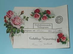 GELUKWENSCH Telegram ( Gelukkige Verjaardag ) Deurne 9 Jan. 1941 Van René En Gilberte ( Zie Foto Voor Detail ) ! - Faire-part