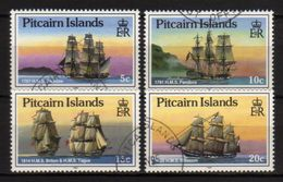 PITCAIRN ISLANDS - 1988 Scott# 298+299+300+301 USED NAVI - Pitcairn Islands