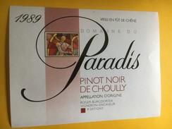 5213 - Domaine Du Paradis  Pinot Noir De Choully  1989 Suisse - Etiquettes